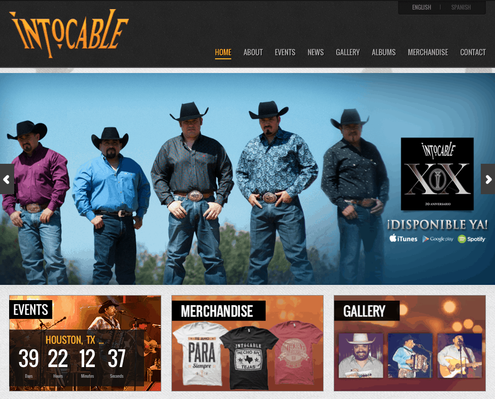 site launch for Intocable website