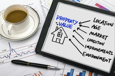 property concept diagram hand drawing on tablet pc